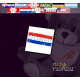 """Teddy """"Flagge Paraguay"""""""
