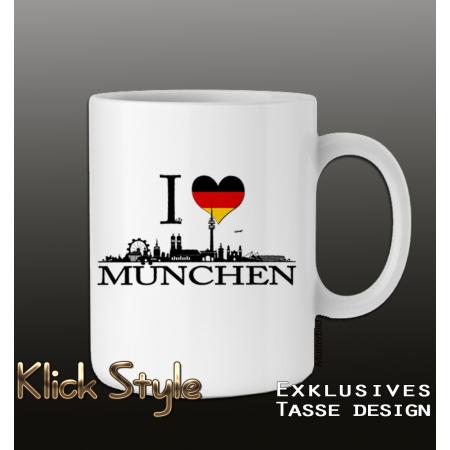"""Tasse """"Ich liebe [Stadt]"""" (Berlin, Stuttgart, München, Wiesbaden, Potsdam, Kiel, Erfurt, Leipzig, Düsseldorf)"""