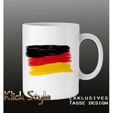 Tasse Splash-Flag Deutschland