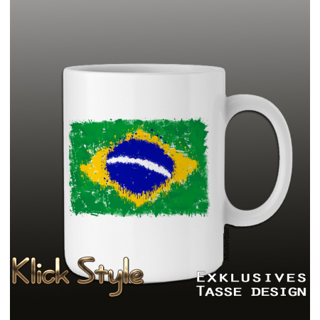 "Tasse ""Splash-Flag Brasilien"""