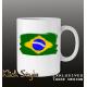 Tasse Splash-Karte Brasilien 2