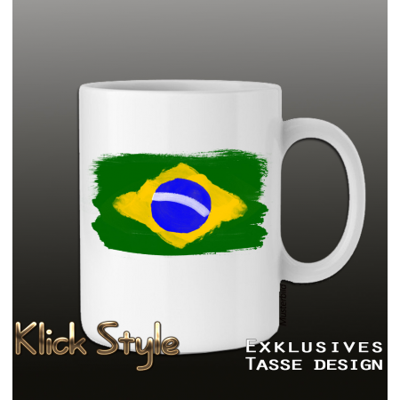 "Tasse ""Splash-Flag Brasilien 2"""