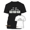 "T-Shirt ""If all else fails CTRL ALT DEL"" (Black)"