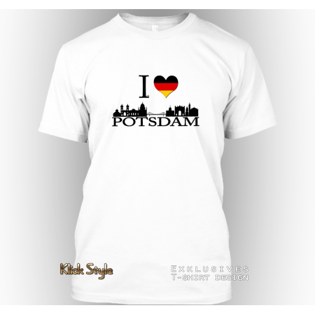 "T-Shirt ""Ich liebe Potsdam"""