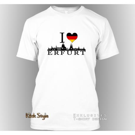 """T-Shirt """"Ich liebe Erfurt"""""""