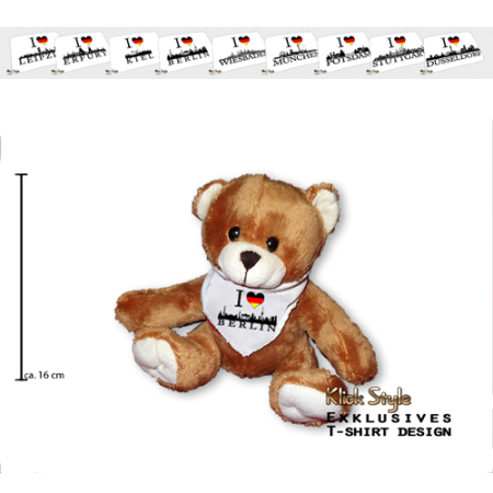 """Plüschtier - Teddy """"Ich Liebe [Diverse Städte]"""""""