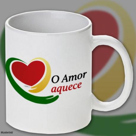 "Tasse ""O Amor aquece"""