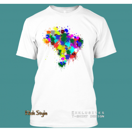 "T-Shirt ""Splash Karte Brasilien"""