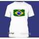 """T-Shirt """"Splash-Flag Brasilien"""""""
