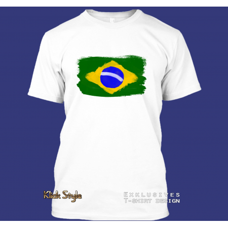 "T-Shirt ""Splash-Flag Brasilien 2"""