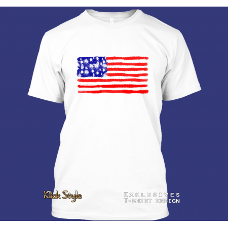 "T-Shirt ""Splash-Flag USA"""