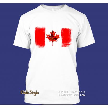 "T-Shirt ""Splash-Flag Kanada"""