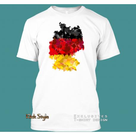 """T-Shirt """"Splash Karte Deutschland"""""""