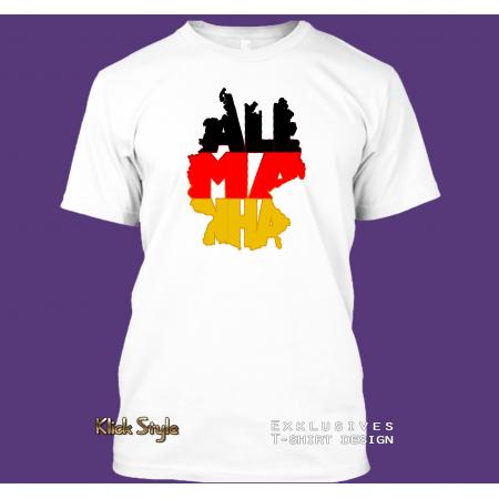 """T-Shirt WordMap Deutschland """"Alemanha"""""""