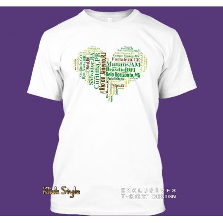 """T-Shirt Wordcloud """"Herz Hauptstädte Brasilien 2"""" (größere Buchstaben)"""