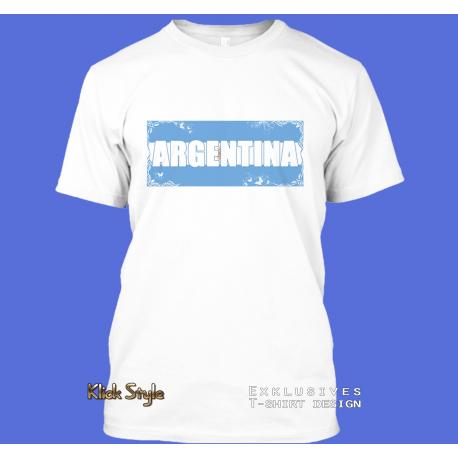 """T-Shirt Wort auf Flagge """"Argentina"""""""