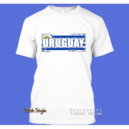 "T-Shirt Wort auf Flagge ""Uruguay"""