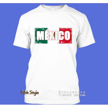 "T-Shirt Wort auf Flagge ""México"""