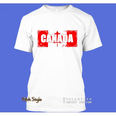 "T-Shirt Wort auf Flagge ""Canada"""