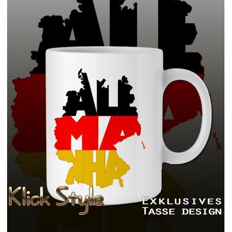 """Tasse WordMap Deutschland """"Alemanha"""""""
