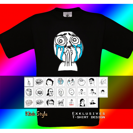 "T-Shirt ""Memes"" (Diverse Memes, schwarz)"