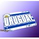 "Mousepad Wort auf Flagge ""Uruguay"""