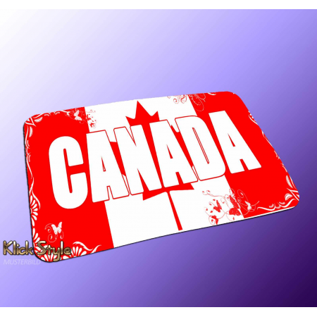 "Mousepad Wort auf Flagge ""Canada"""