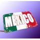 "Mousepad Wort auf Flagge ""Mexico"""