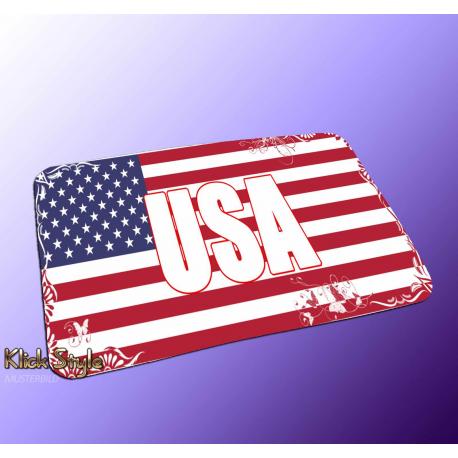 "Mousepad Wort auf Flagge ""USA"""