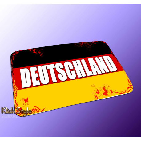 "Mousepad Wort auf Flagge ""Deutschland / Germany"""