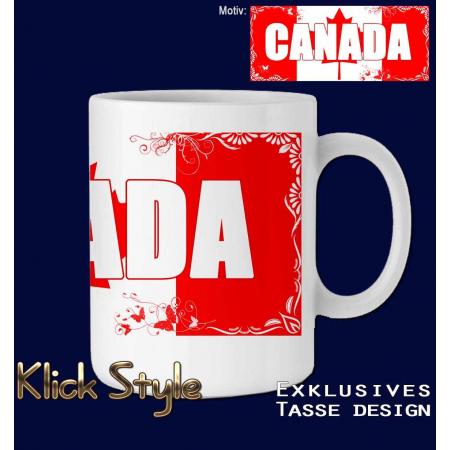 """Tasse Wort auf Flagge """"Canada"""""""