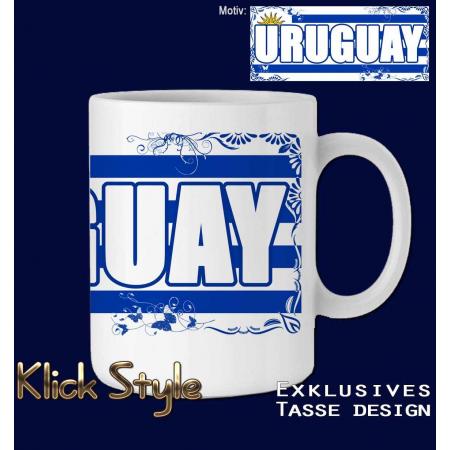 """Tasse Wort auf Flagge """"Uruguay"""""""