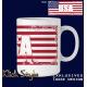 """Tasse Wort auf Flagge """"USA"""""""