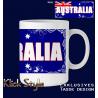 "Tasse Wort auf Flagge ""Australia"""