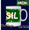"""Tasse Wort auf Flagge """"Brasilien"""""""