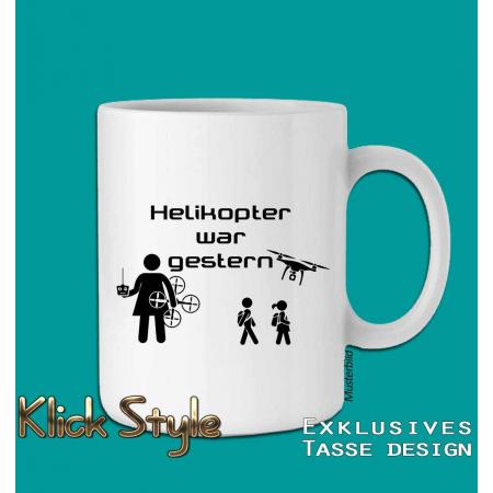 """Tasse """"Dronen Mama"""" (Helikopter war gestern!)"""